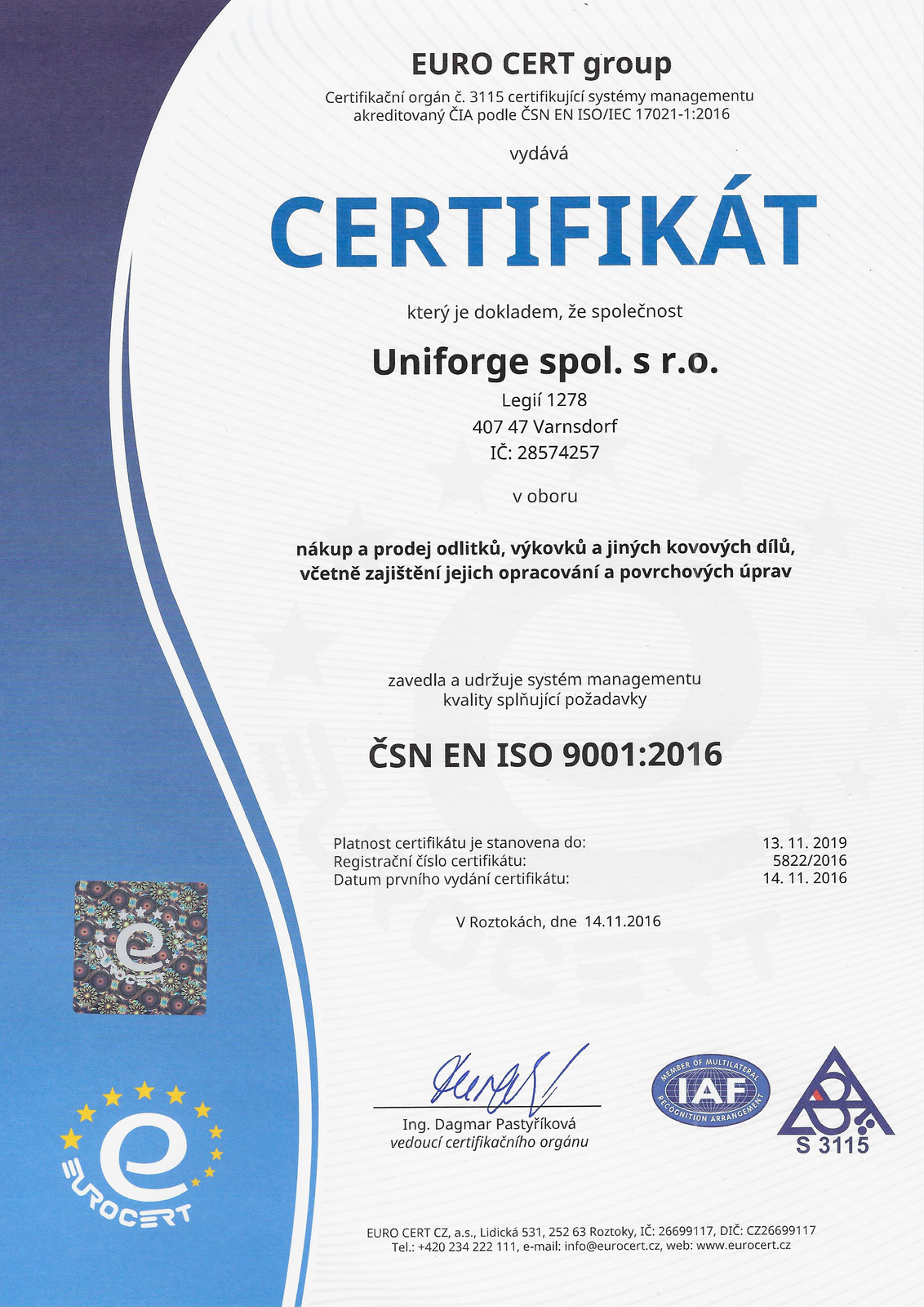 Certificated Company Uniforge